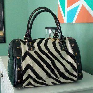 Arcadia Zebra purse with removable shoulder strap